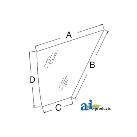 Tractor Cab Glass K262938 - Door, Lower (RH)