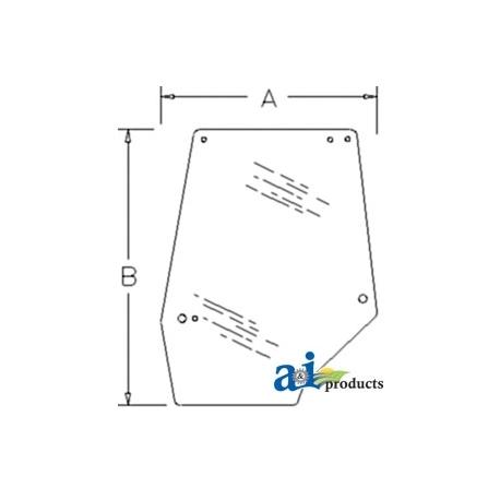 Tractor Cab Glass 1330931C2 - Door, Upper (LH)