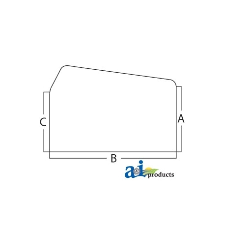 Tractor Cab Glass D6NN9442006F - Rear, Upper - Sliding