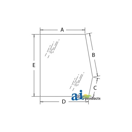 Construction Machine Cab Glass E7NN94297N17AC - Door, Upper (LH)