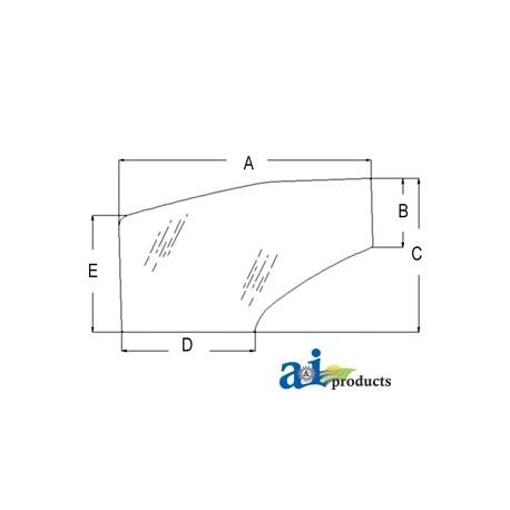 Tractor Cab Glass 81871241 - Door (RH)
