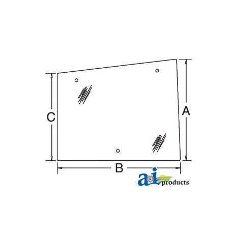 Tractor Cab Glass 86521435 - Side (RH) - Hinged