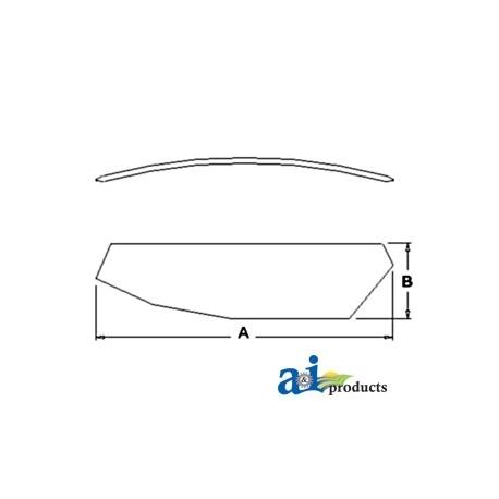 Tractor Cab Glass 5125038 - Door (RH)