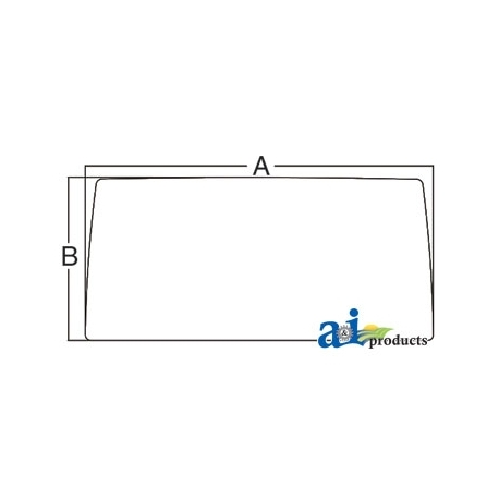Tractor Cab Glass 5113401 - Windshield, Front