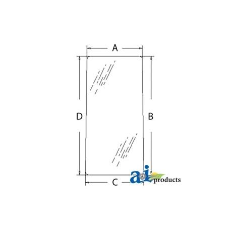Excavator Cab Glass 4369556 - Rear (LH)