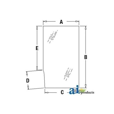 Construction Machine Cab Glass T113463 - Door, Upper (LH)