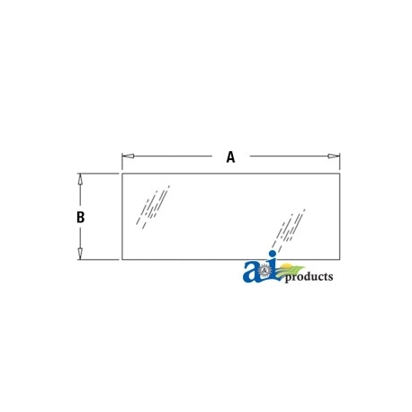 Construction Machine Cab Glass T201953 - Rear, Lower