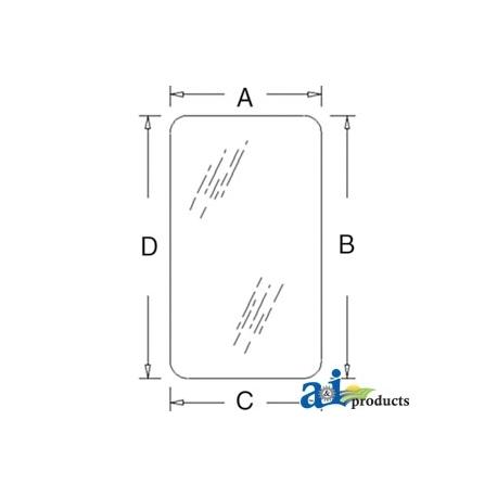 Construction Machine Cab Glass T30859 - Door (RH/LH) - Tinted