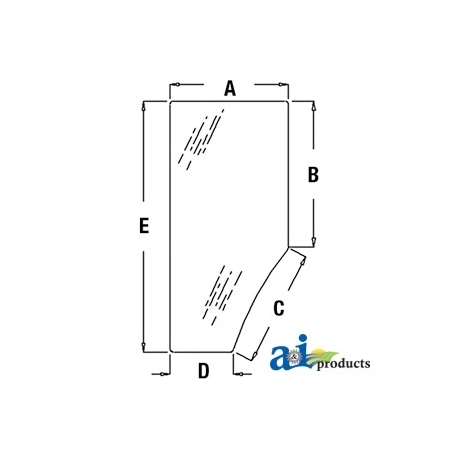 Tractor Cab Glass R131163 - Door (LH)