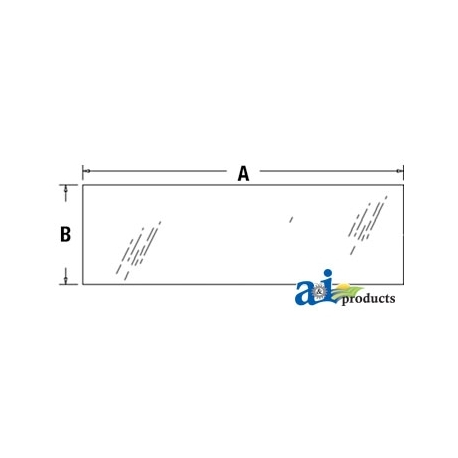 Tractor Cab Glass 3A751-70550 - Rear, Lower