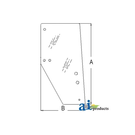 Tractor Cab Glass 3F260-53050 - Door (RH)