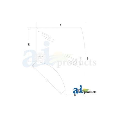 Compact Tractor Cab Glass 87523292 - Door, RH