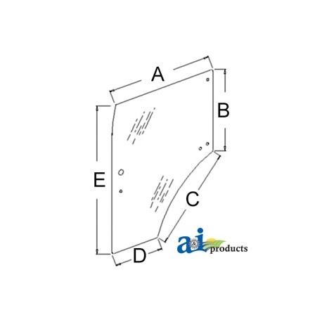 Compact Tractor Cab Glass 87523291 - Door, LH