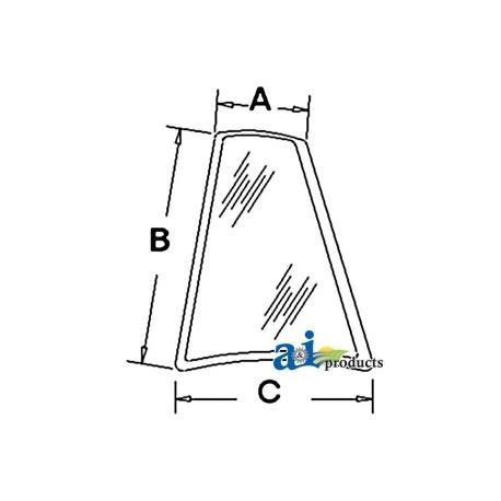 Construction Machine Cab Glass D126205 - Rear, Quarter (LH)