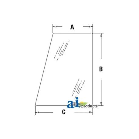 Construction Machine Cab Glass CG4122 - Door & Side (RH/LH)
