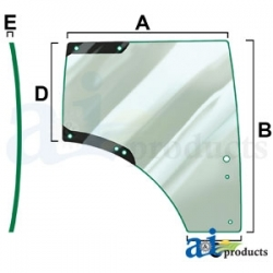 Tractor Cab Glass L212968 - RH Door