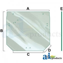 Tractor Cab Glass R261272 - Rear Window