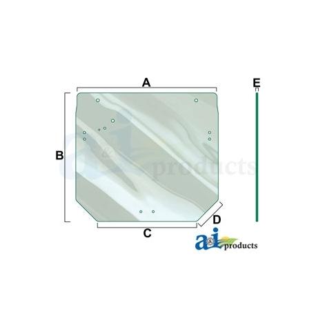 Tractor Cab Glass R261272 - Rear Window