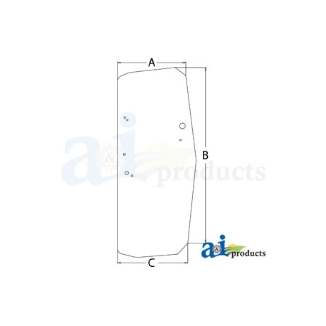 Construction Machine Cab Glass T205160 - RH Door
