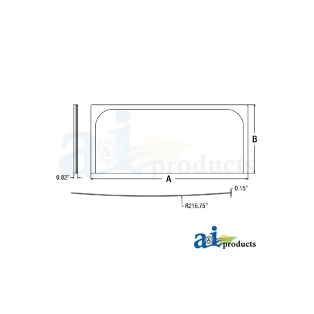 Construction Machine Cab Glass 4651654 - Lower Front Windshield