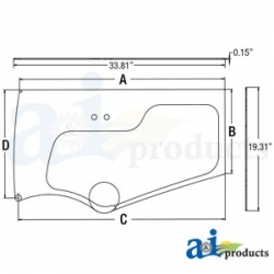 Construction Machine Cab Glass 4651658 - Lower Door