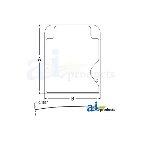 Construction Machine Cab Glass 4664382 - Upper Windshield