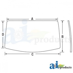 Tractor Cab Glass AL212195 - Rear Window