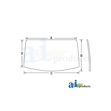 Tractor Cab Glass AL212195 - Rear Window