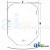 Skid Steer Loader Cab Glass 7120401 - Windshield