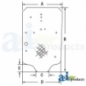 Skid Steer Loader Cab Glass 86988662 - Windshield