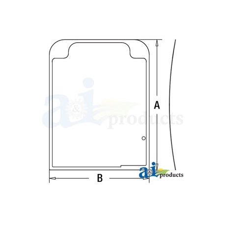 Construction Machine Cab Glass 4651653 - Upper Front Windshield