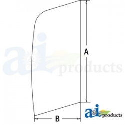Construction Machine Cab Glass 4651659 - Upper Door Front