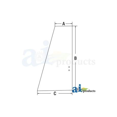 Construction Machine Cab Glass 4651660 - Upper Door Rear
