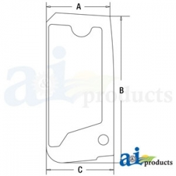 Construction Machine Cab Glass 4651657 - Upper Door