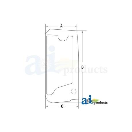 Construction Machine Cab Glass 4651657 - Upper Door
