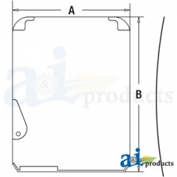 Construction Machine Cab Glass FYA00001495 - Upper Front Windshield