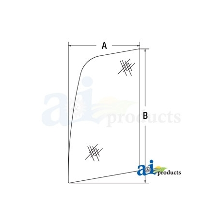Construction Machine Cab Glass FYA00001500 - Upper Door Front