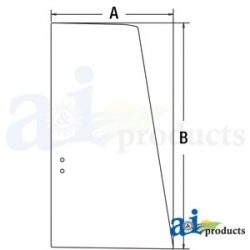 Construction Machine Cab Glass FYA00001501 - Upper Door Rear