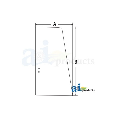 Construction Machine Cab Glass FYA00001501 - Upper Door Rear