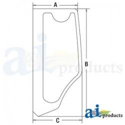 Construction Machine Cab Glass FYA00001498 - LH Rear Side