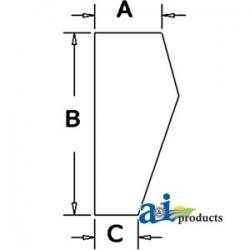 Construction Machine Cab Glass D131289 - Windshield, Door, Lower (LH)