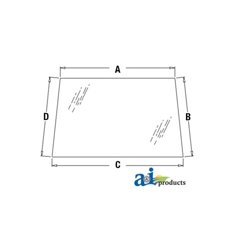 Construction Machine Cab Glass 448607A1 - Windshield, Upper