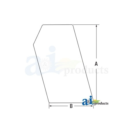 Skid Steer Loader Cab Glass 6702731 - Side, Stationary  LH / RH