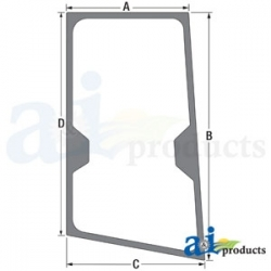 Construction Machine Cab Glass T244711 - RH Door