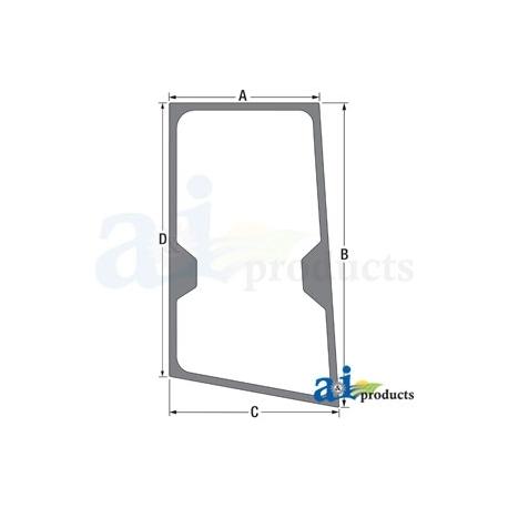Construction Machine Cab Glass T244711 - RH Door