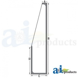 Construction Machine Cab Glass T182928 - RH Front