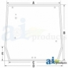 Tractor Cab Glass 5089562 - Rear Window