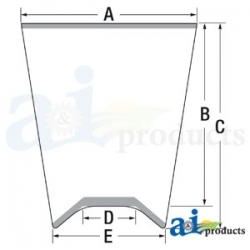 Construction Machine Cab Glass T230096 - Front Windshield