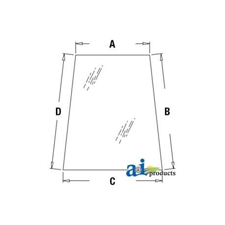 Construction Machine Cab Glass 338429a1 Door Upper Lh