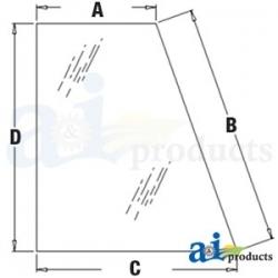 Construction Machine Cab Glass 338425A1 - Rear, Quarter (RH)